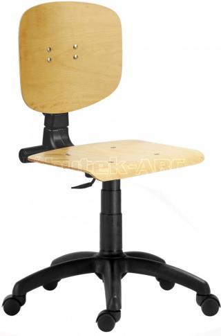 Pracovní dílenská židle 1290 L MEK. S kolečky.