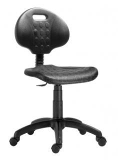 Pracovní dílenská židle 1290 PU NOR, plastový kříž
