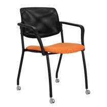 Jednací konferenční židle WENDY síť (chrom)