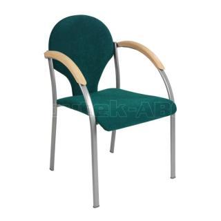 Jednací židle NEON, šedá konstrukce, čalouněné  područky