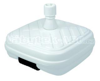 Stojan plastový plnitelný vodou s kolečky, bílý, 50 litrů