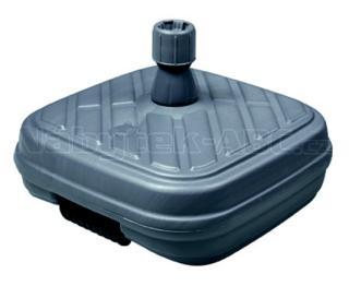 Stojan plastový plnitelný vodou s kolečky,antracit, 50 l, 55x55cm