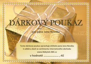 Dárkový poukaz na zboží www.Nábytek-ABC.cz hodnota 3.000