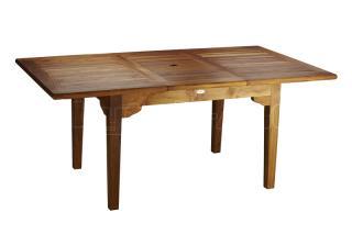 Teakový zahradní rozkládací stůl ELEGANTE, 120x130/180cm