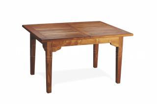 Teakový zahradní rozkládací stůl ELEGANTE, 120x180/240cm