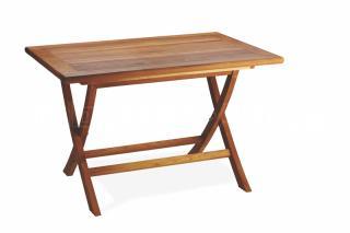 Teakový zahradní stůl VASCO, skádací 80x120cm
