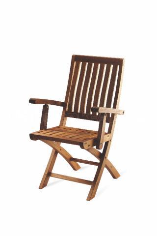 Teaková skádací zahradní židle DORIS