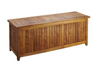 Teaková zahradní truhla LEONARDO II., 150x55x61cm