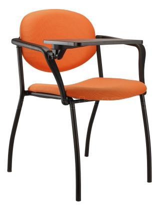 Jednací konferenční židle  WENDY čalouněná (černá konstrukce)
