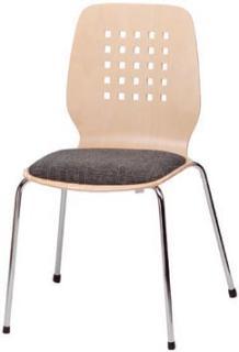 Jídelní a kuchyňská židle ARNO BE - čalouněný sedák/děrovaný opěrák