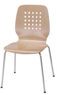 Jídelní a kuchyňská židle ARNO - dřevěná/děrovaný opěrák