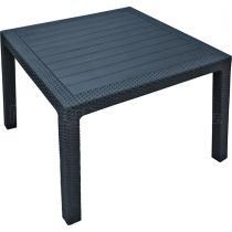 Zahradní plastový stůl MELODY QUARTED, antracit, 94x94x75cm