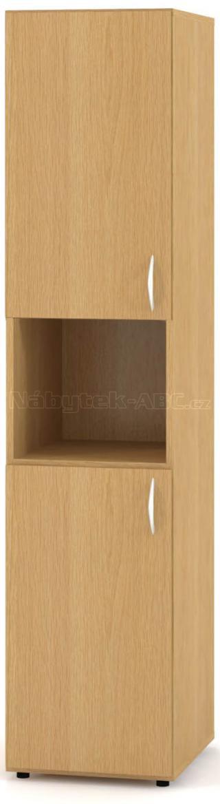 Kancelářská skříň OfficePlus 400x470x1780, dělené dveře levé, nika