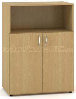 Kancelářská skříň OfficePlus 800x470x1063, dveře, nika